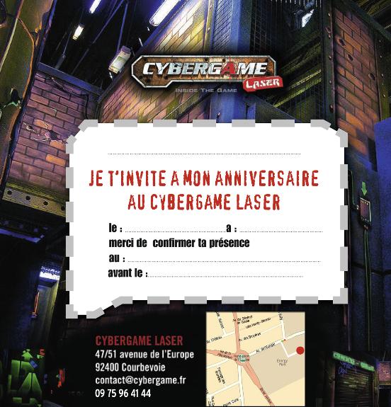 Extrêmement Les Tarifs du Laser Game - Cybergame Courbevoie QI76
